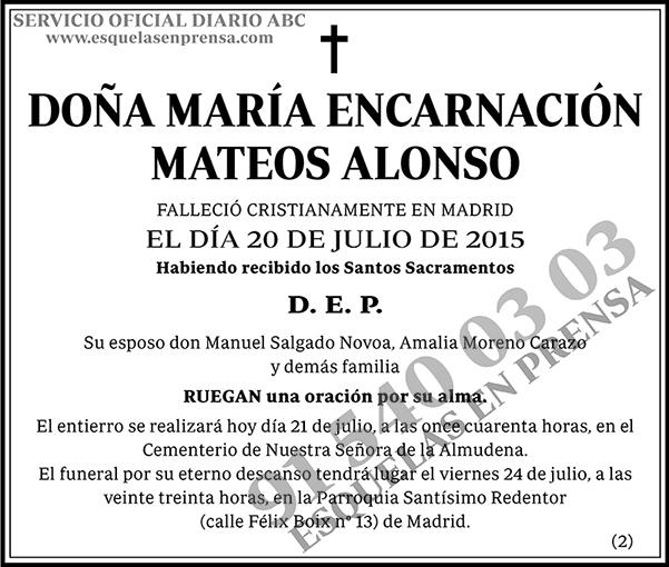 María Encarnación Mateos Alonso